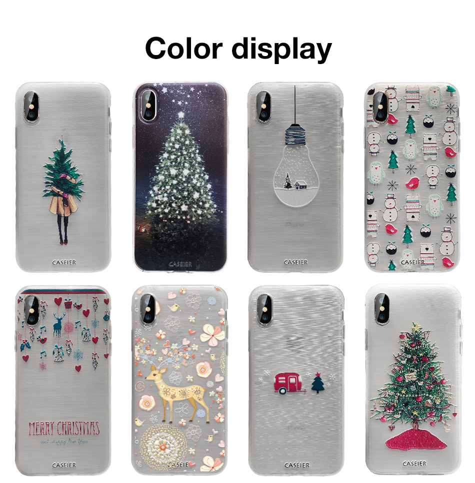 Christmas Phone Case Iphone Xr.Caseier 2020 New Year Phone Case For Iphone 7 Xr Xs Max X 8 6 6s Plus Christmas Cases For Iphone 11 Pro Max 5 5s Se Soft Covers