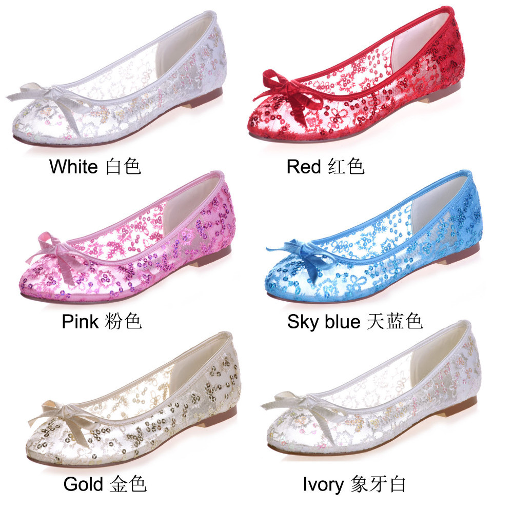 bb3c26d5f9ea Creativesugar see through lace ballet flats bling sequin summer ...