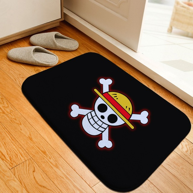 Cartoon One Piece Printed Floor Mats Anti Slip Rugs Anime Luffy