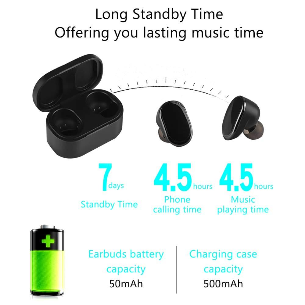 OKCSC K9 Earphone Bluetooth 5 0 EDR Wireless Mini Earpads Stereo Gaming Waterproof Headset for Phone with Mic Charging Room in Bluetooth Earphones Headphones from Consumer Electronics