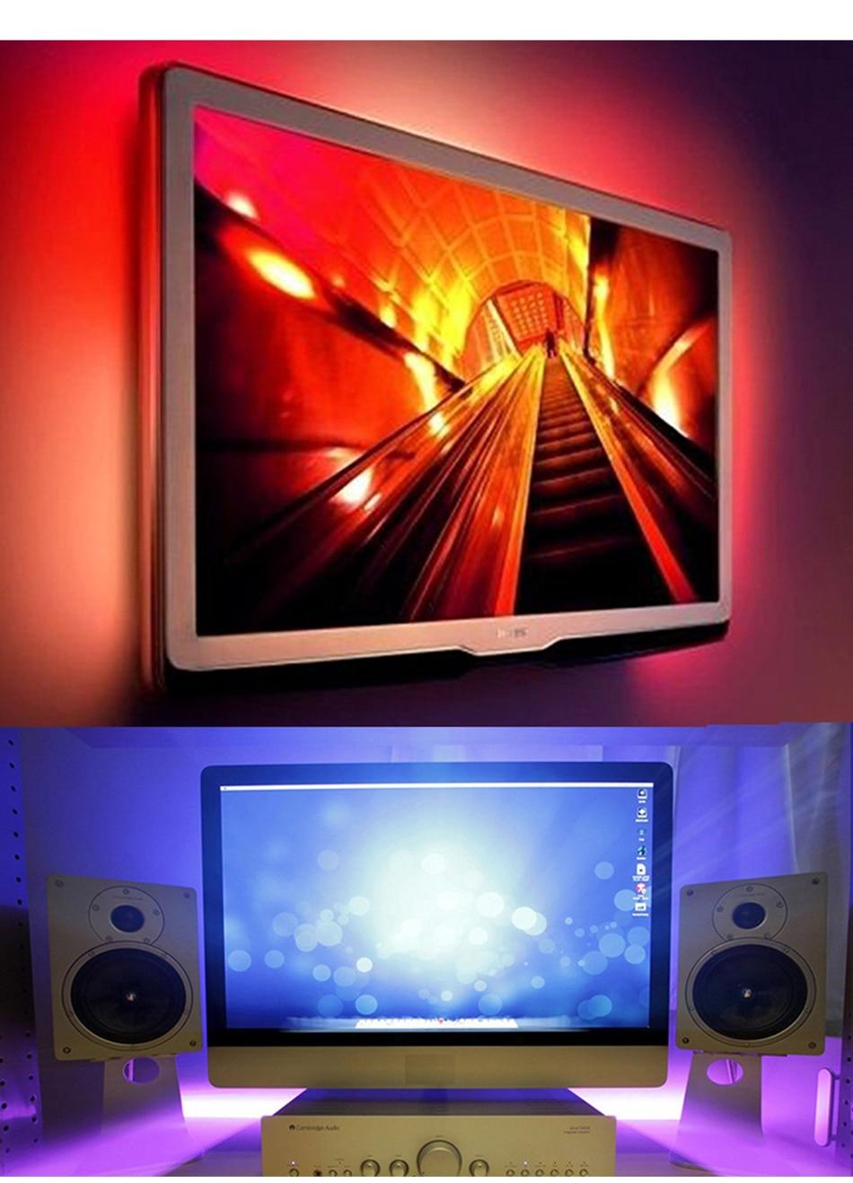 HTB10MuSacfrK1Rjy1Xdq6yemFXaD DC 5V LED Strip USB Cable Power Flexible Light Lamp 50CM 1M 2M 3M 4M 5M SMD 2835 Mini 3Key Desk Decor TV Background Lighting