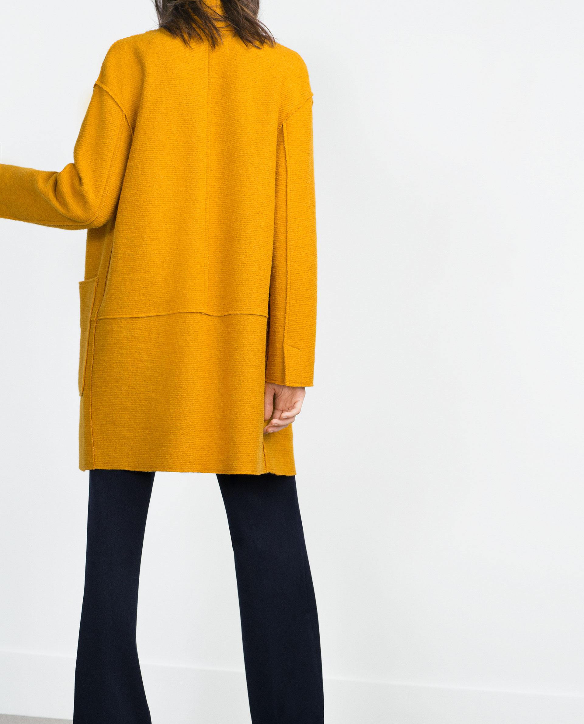 Zara Lana Abrigos Mujer Mujer Lana Zara Abrigos Zara rqrw48