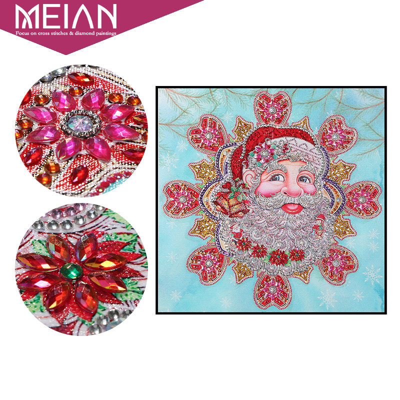 Meian,Diamond Painting Santa Claus 5D DIY Drill Diamond Embroidery Diamond Mosaic Sale,Christmas Picture DP Accessories DecorMeian,Diamond Painting Santa Claus 5D DIY Drill Diamond Embroidery Diamond Mosaic Sale,Christmas Picture DP Accessories Decor