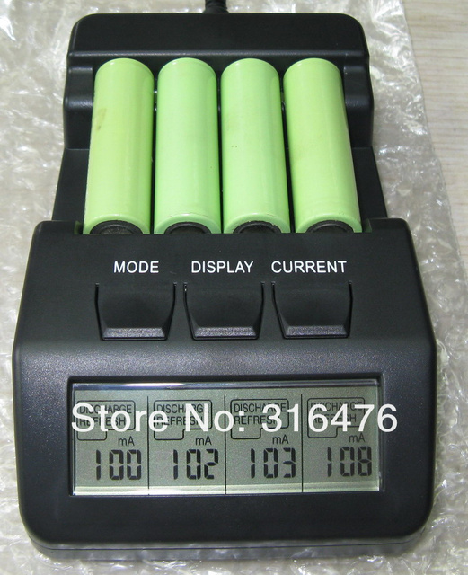 BM110 Intelligent Digital Battery Charger Tester LCD Multifunction for 4 AA AAA Rechargeable AKKU +free shipping