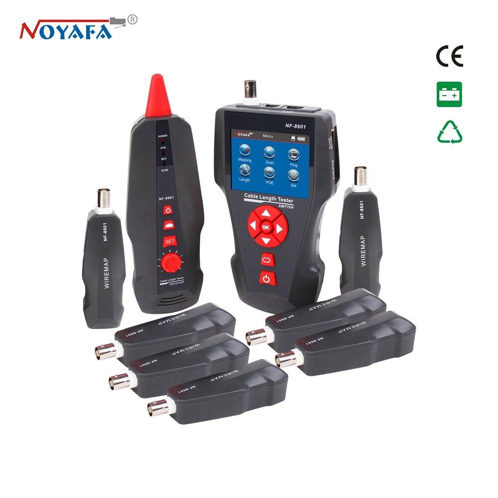 Noyafa NF-8601W testeur de câble réseau LCD multifonctionnel pour RJ45, RJ11, BNC, câble métallique, PING/POE Redes Tracker