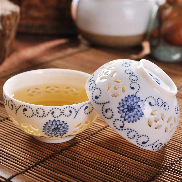 Tangpin chaleira de cerâmica requintada, azul e branco, chaleiras de chá porcelana, conjunto de chá chinês