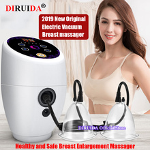 Original Electric Vacuum therapy machine Breast Massager Breast Chest Massage Enlargement Breast Care Beauty Body Cupping Device