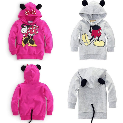Baby Girls Boys Kids Cartoon Design Hoodies Sweatshirt Coat Clothes 1-6Y