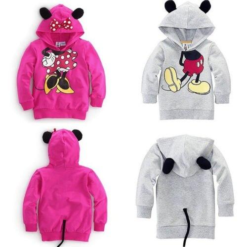 Baby Girls Boys Kids Cartoon Design Hoodies Sweatshirt Coat Clothes 1-6Y