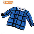 Brand Baby Grid Boy Sweater 2016 Winter Thicken Female Children Clothing Kids Cardigan Sweaters Girls Fashion Knitted Outerwear
