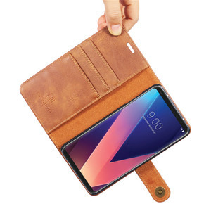 Image 5 - Роскошный кожаный чехол бумажник DG.MING для LG V30 V20 G6, съемный магнитный откидной Чехол с отделениями для карт для iPhone 6 6s 7 8 Plus X 5 5s SE
