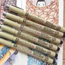 7 шт. Сакура Pen Set EF тонкой гелевые ручки для эскиз рисунок c Книги по искусству Ун микрон Pigma лайнер Книги по искусству маркер поставки канцелярские cb922