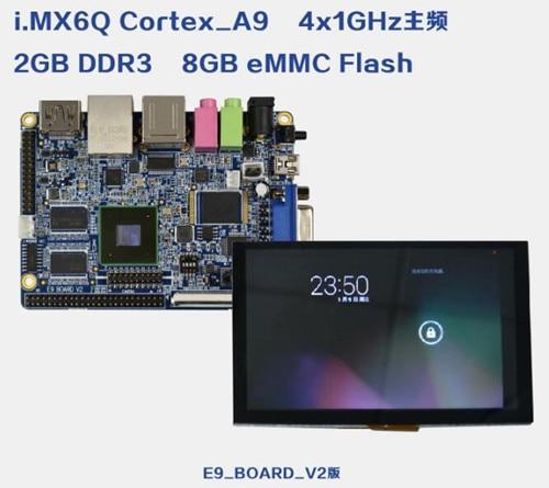 Freundschaftlich Freescale I. Mx6q Mini-pc E9 Cortex-a9 Quad Development Board + 5,0 Zoll Tft Lcd Bildschirm 2 Gb Ddr3 8 Gb Flash Lassen Sie Unsere Waren In Die Welt Gehen