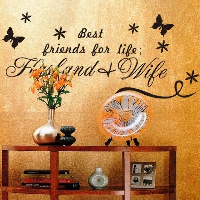Beste Freunde Mann Frau Englisch Zitate PVC Wandaufkleber L Wohnkultur  Hochzeit Wohnzimmer Schlafzimmer Dekor Valentinstag