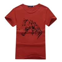 Summer Style Ink Painting Horse Pattern Print T Shirt Men Summer Clothes 2017 Round Collar Men