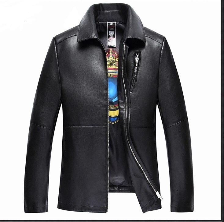 Jackets Men's Clothing Objective 1863 New Fashion Men Genuine Leather Coat Jacket Mens Clothing Overcoat Mens Autumn Jacket