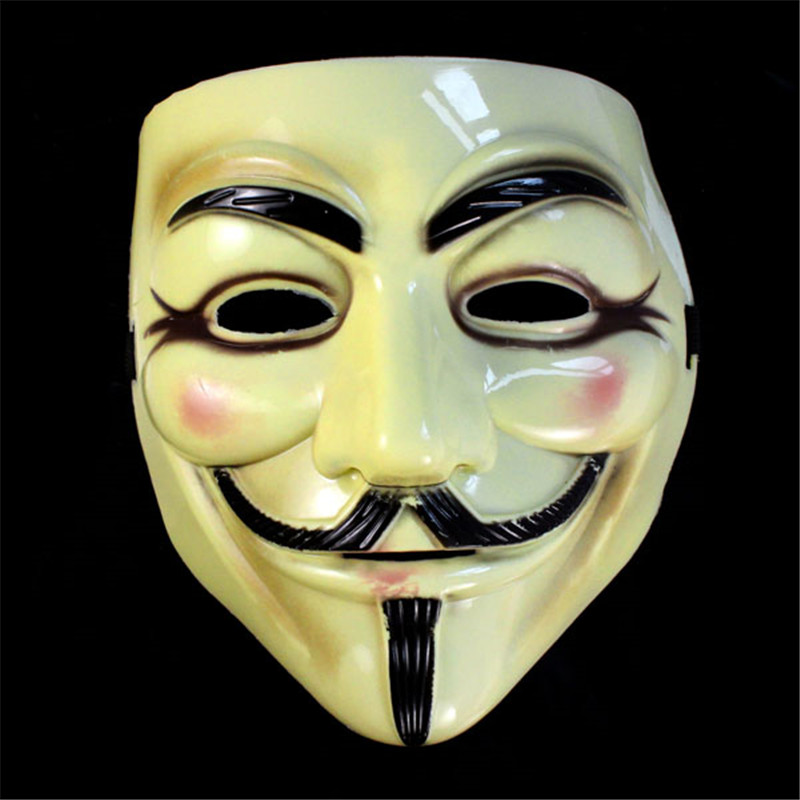 V for Vendetta Mask Anonymous Guy Fawkes Fancy Dress Halloween Costume Cosplay