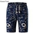 New Fashion Mens Cotton Shorts 2017 Summer Brand Men Shorts Homme Stylish Print Casual Beach Shorts Men Short Pants