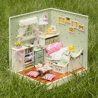 Diyのドールハウスドールハウス木製組立パズルおもちゃカワイイ家具おもちゃふりプレイ玩具家庭用誕生日ギフト用女の子