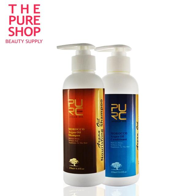 Шампунь и кондиционер для волос 250 мл 2 шт. марокканский чистый аргановое масло шампунь и уход за волосами proudcts бесплатная доставка