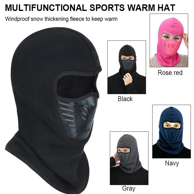 Модные Повседневные Удобные ветрозащитные шапки для туризма для лыж велосипеда мотоцикла шляпа мужской зимний теплый маска шляпа унисекс шеи теплый шлем шляпа