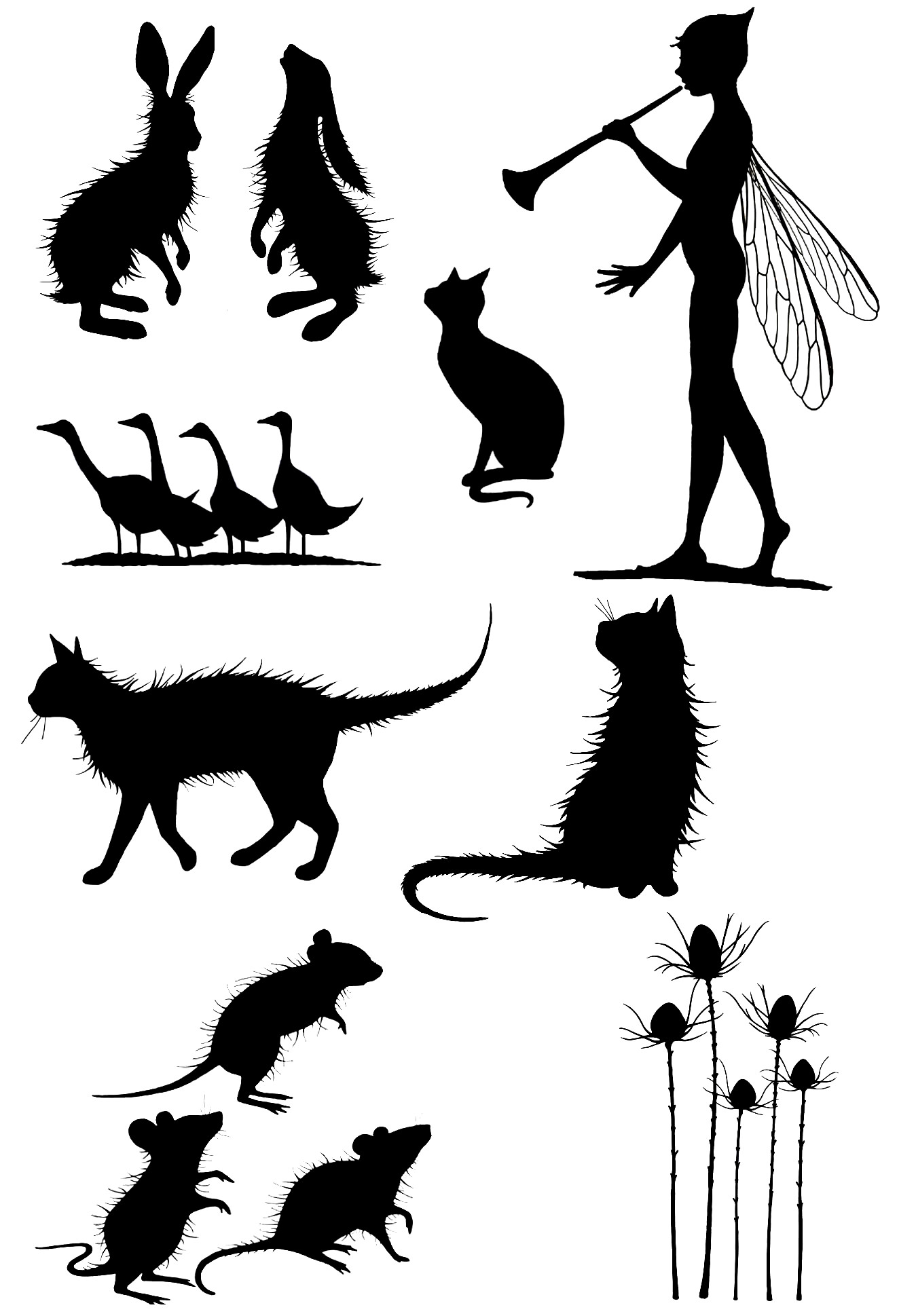 Rabbits Cats Mouse Transparent Clear Stamp For DIY Scrapbooking/Card Making/Kids Christmas Fun Decoration Supplies