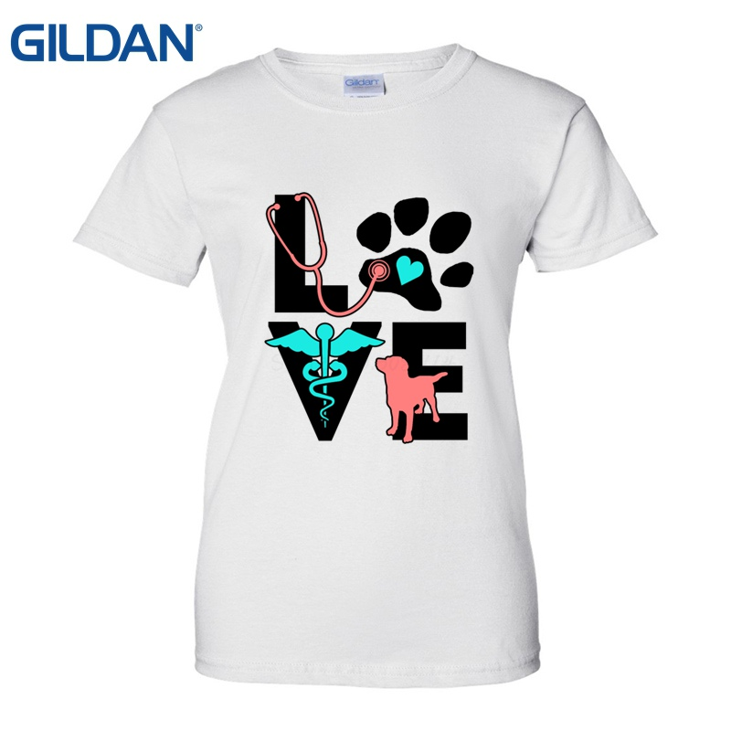 love veterinary medicine cute letters gift t shirt make