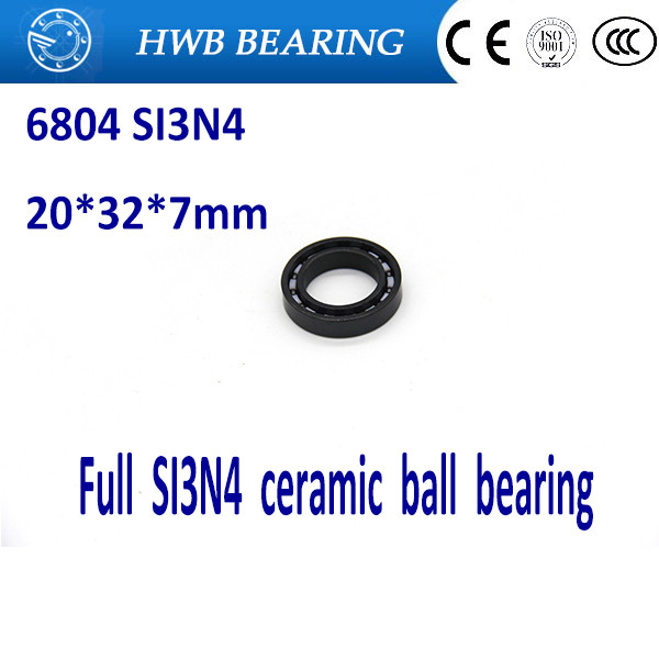 Free shipping 6804 61804 full SI3N4 ceramic deep groove ball bearing 20x32x7mm full ceramic free shipping 6006 full si3n4 ceramic deep groove ball bearing 30x55x13mm