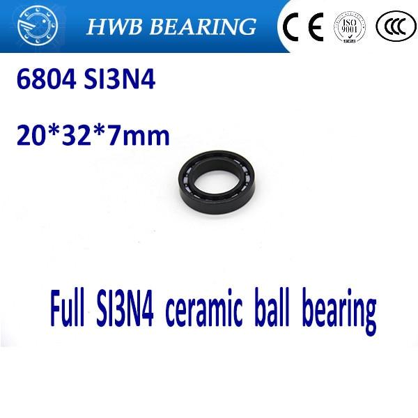 Free shipping 6804 61804 full SI3N4 ceramic deep groove ball bearing 20x32x7mm full ceramic free shipping 6800 full si3n4 ceramic deep groove ball bearing 10x19x5mm 61800 bearing