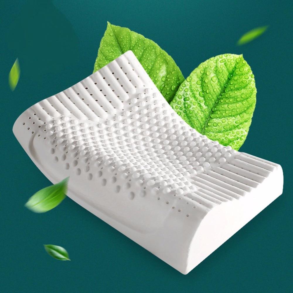 60*40*12/10 cm Latex respirant vertèbres cervicales soins de santé orthopédique Massage oreiller lit literie oreiller en Latex naturel