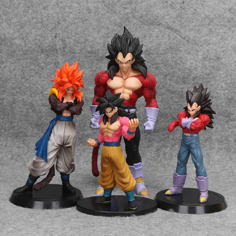 Dragon ball GT Super Saiyan Vegeta PVC Figuras 4 Dragon Ball Z Goku Vegeta Gogeta Coleção Estatueta Modelo Toy Drago Brinqudoes