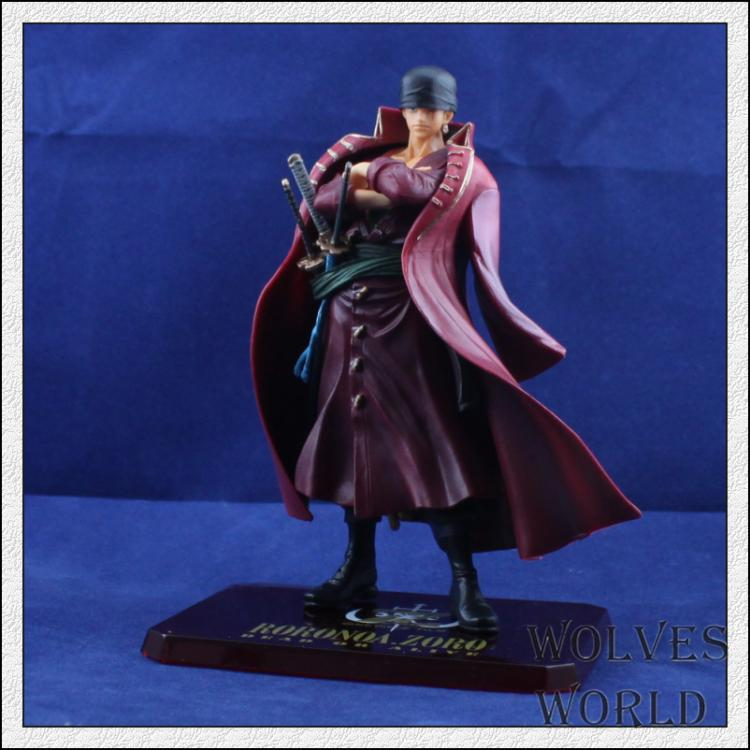 14CM RORONOA ZORO ONE PIECE FILM MOVIE Z black and red clothes Complete  Action Figure Collectible model Toy Gift for boy one piece action figure roronoa zoro led light figuarts zero model toy 200mm pvc toy one piece anime zoro figurine diorama