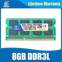 Laptop Ram DDR3L 8GB 1600 PC3-12800 204PIN Memory DDR3L 1333 PC3-10600 Sodimm Ram Compatible All Intel AMD ddr3 Motherboard