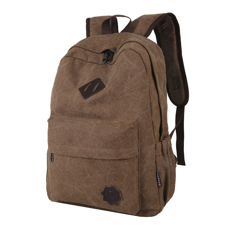 Mochila  Men Male Canvas Backpack Gray Casual Rucksacks 15inch Laptop Backpacks