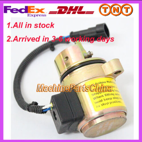 Replace of BMF 2011 Engine Fuel Shutdown Device shut off solenoid 04287583 0428-7583 ZT 04103812 fuel shut off solenoid valve coil 3964624 fits excavator engine