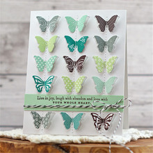Eastshape Bitty Butterflies Die Small Solid Embossing Stencil Fold Butterfly Metal Cutting Dies For DIY Paper Album