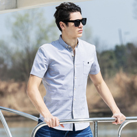 Pioneer Camp 2018 New Arrival 100% Cotton Oxford Men Shirt Slim Fit Camisa Masculina Street Soft Chemise Homme 3Xl Shirt 666210 5