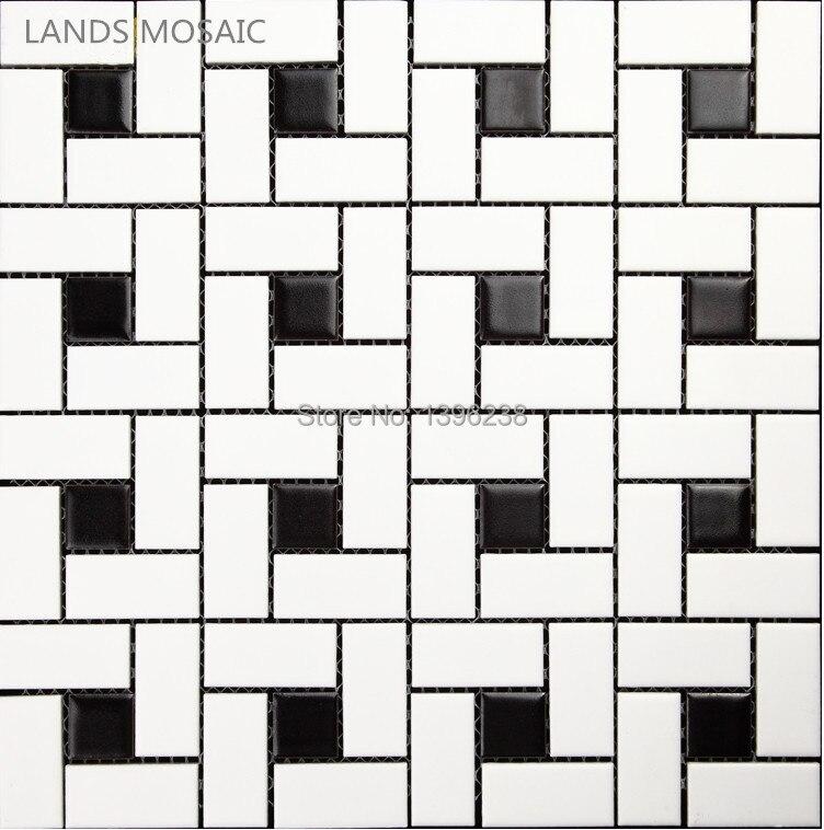 Black and white brick Matt/Glossy available Ceramic mosaic tile,Toliet floor,Kitchen Bathshower backdrop Art wall tiles,LSTCHZ02 art ceramic