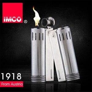Image 2 - Marke IMCO 5 Sterne Leichter Edelstahl Leichter Original Öl Benzin Zigarette Leichter Feuer Retro Benzin Geschenk Feuerzeuge