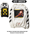 2016 Men's Off White Hoodies and Sweatshirts Men Fleece Sweat Homme Graphic Crewneck  Sudaderas Hombre Off White Brand  Clothing