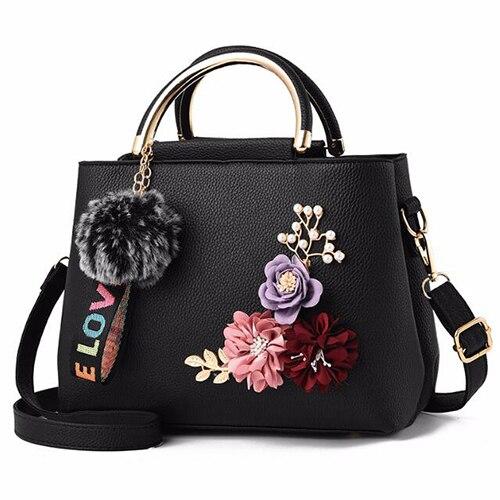 Handbags Flower Bag Leather...