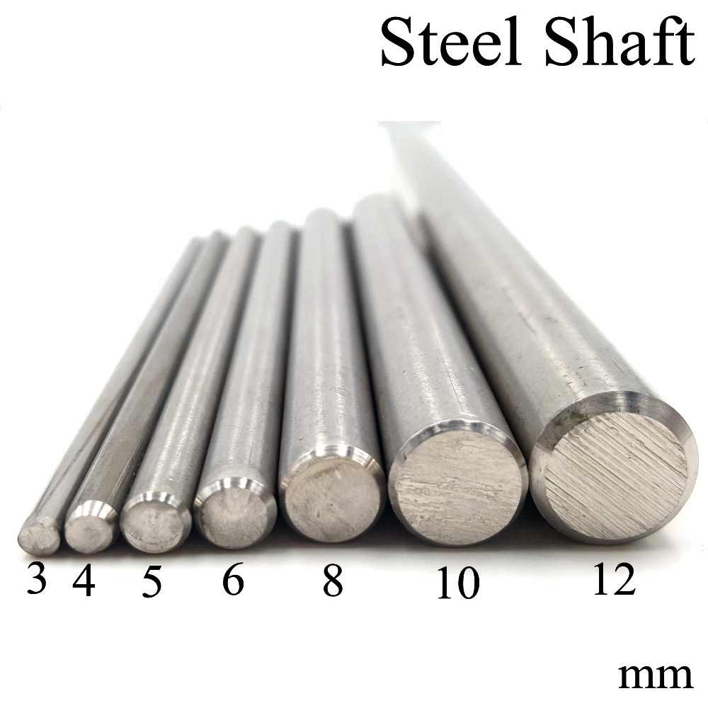 Diameter 2/3/4/5/6/8/10/12MM Steel Transmission Shaft for DIY Motor Drive Toy Model Gear Drive Short Axle