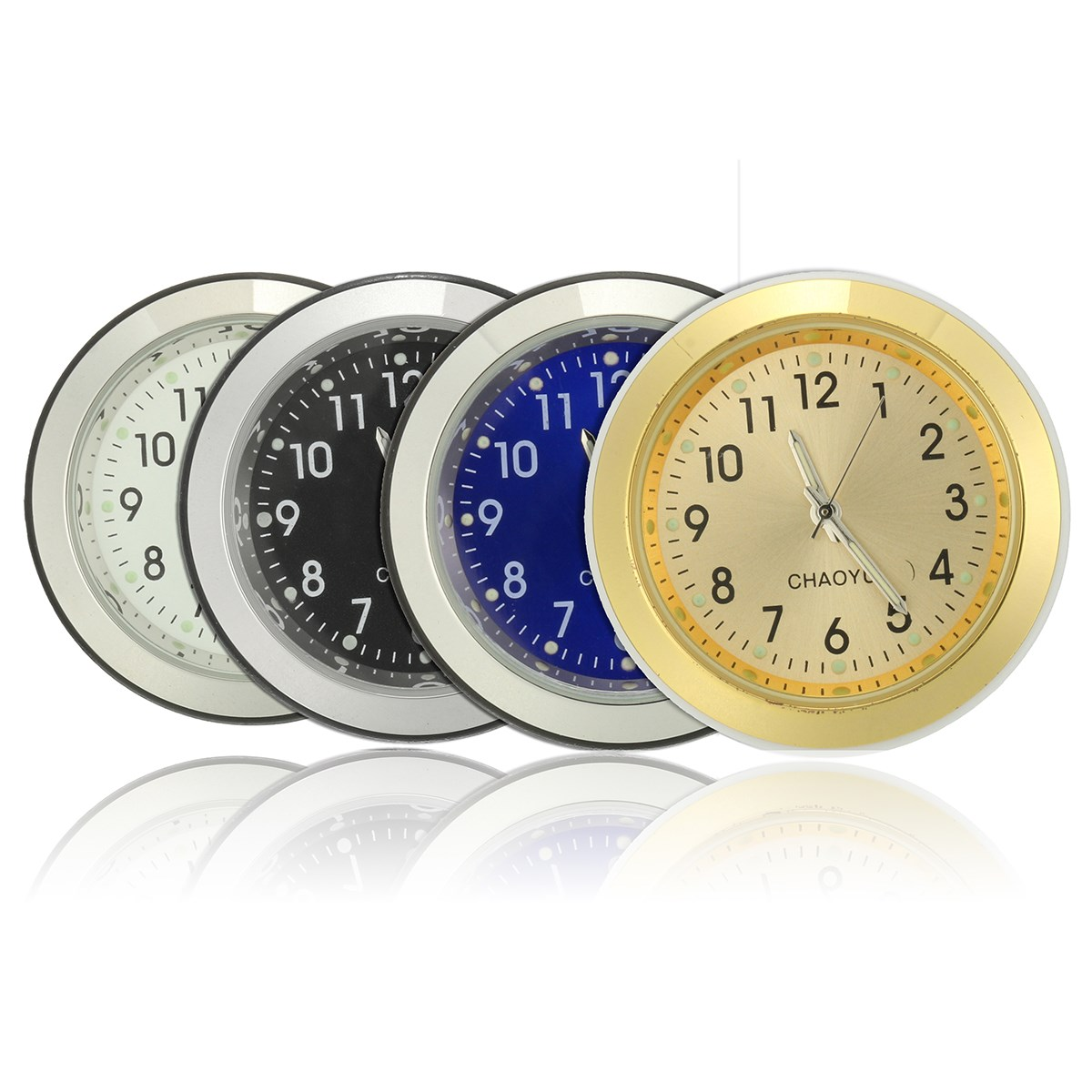 7/8 inch 1'' Universal Motorcycle Bike Handlebar Dial Mount Clock Watch Waterproof Plastic Base Glass Lens цена