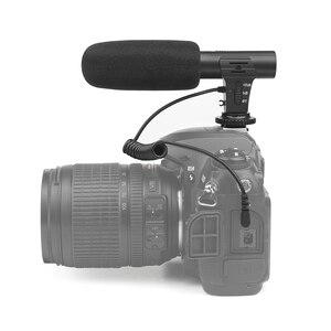 Image 5 - Внешний конденсаторный стереомикрофон SHOOT 3,5 мм для цифровой зеркальной камеры Nikon, Canon, Sony, микрофон для видеосъемки и интервью