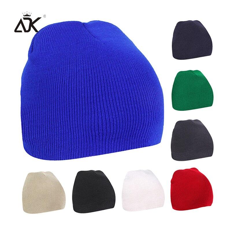 8 Colors Solid Knitted Hat For Women Men  Autumn Winter Beanie Cap Unisex Outdoor Bonnet Soft Hip Hop Skullies Beanies
