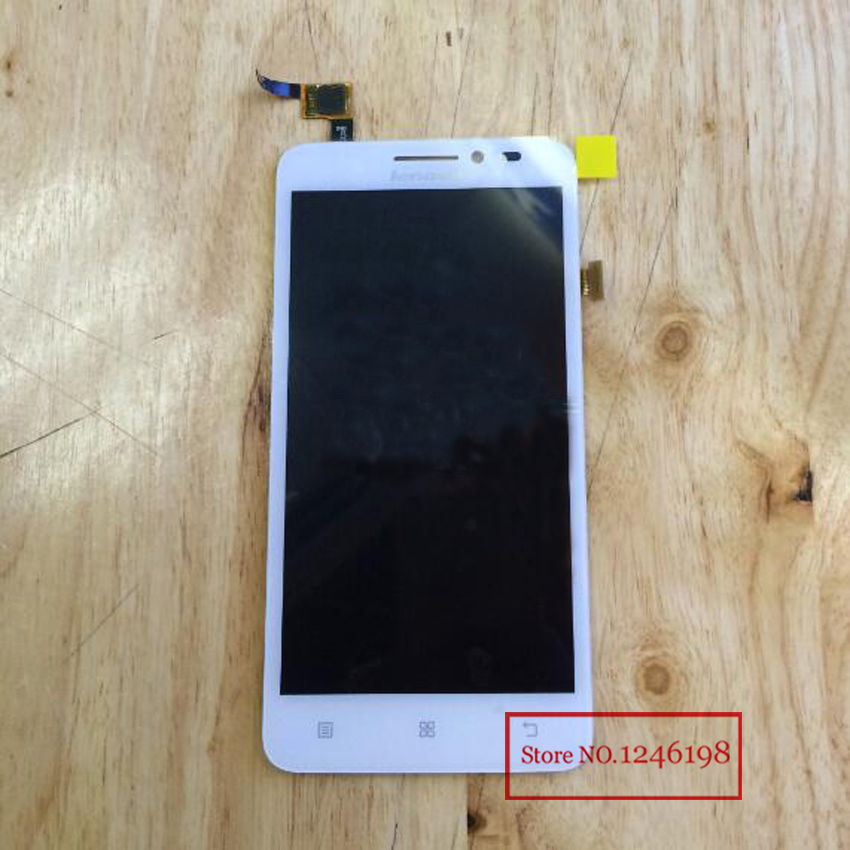 TOP Quality Black White LCD Display Panel with Touch Sreen Digitizer Assembly For Lenovo A606 Replacement Parts