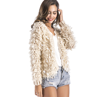 Warm Shaggy Winter Cardigan Women Sweater Long Sleeve Sequined Hairy Knitted Cardigans Open Stitch Knit Outerwear sueter mujer
