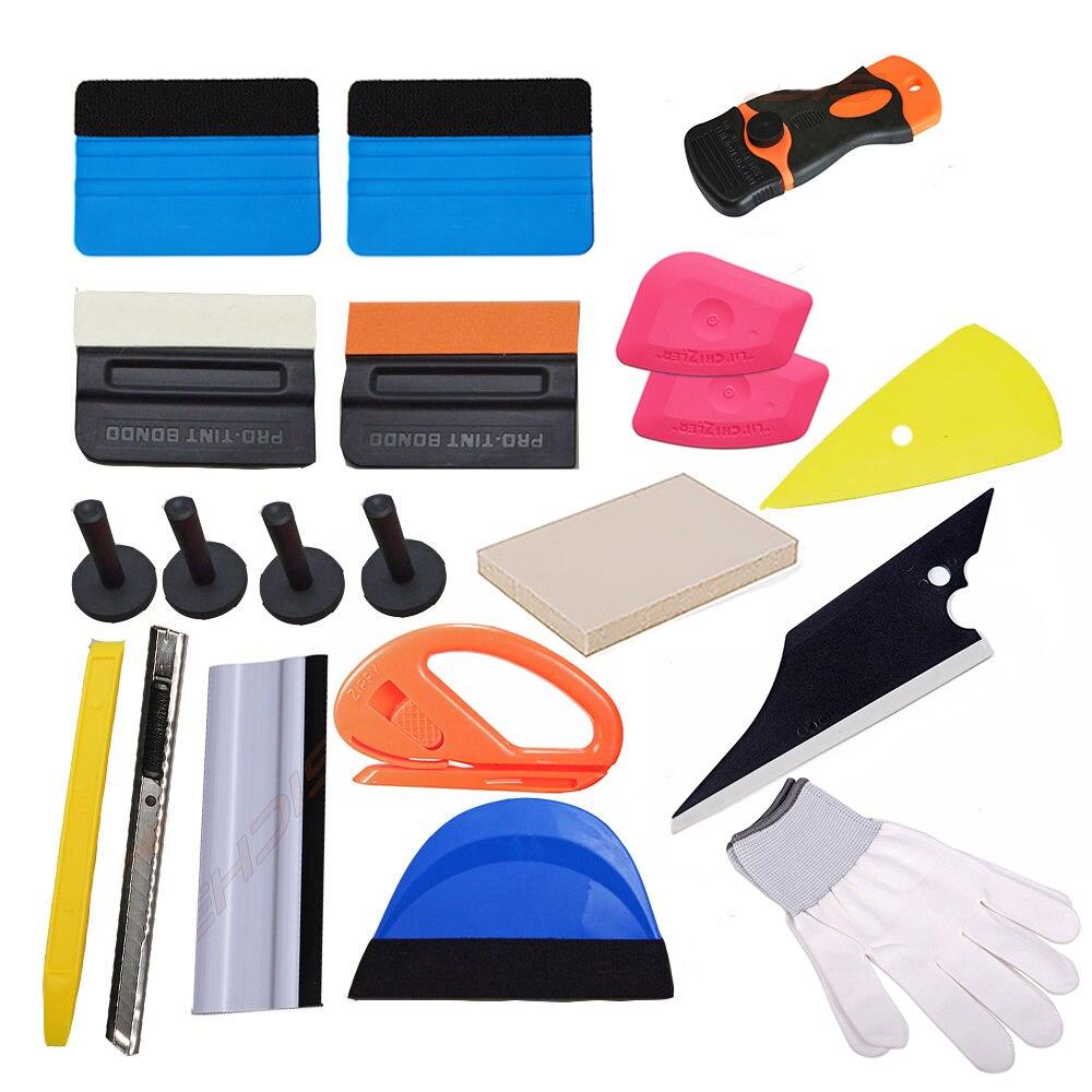 EHDIS voiture raclette grattoir véhicule vinyle Wrap Film autocollant Kit d'installation couteau de coupe avec support magnétique Auto accessoires de voiture