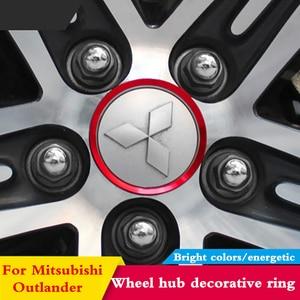 Для Mitsubishi Outlander ASX Pajero Lancer, алюминиевый сплав, декоративная для ступицы, кольцо, Центральный концентратор, колпачки, украшение автомобильных ...
