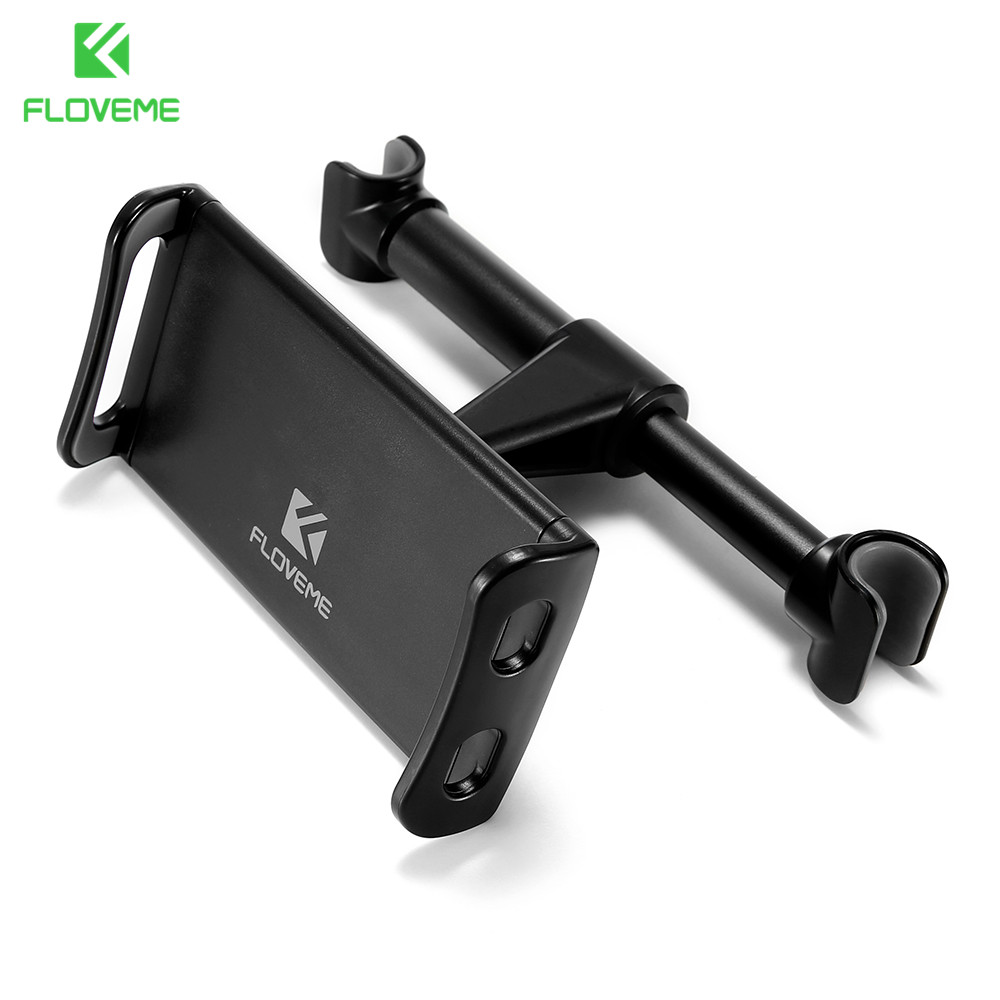 FLOVEME 4-11 inch Phone Tablet PC Car Holder Stand Back Auto Seat Headrest Bracket Support Accessories For iPhone X 8 iPad Mini